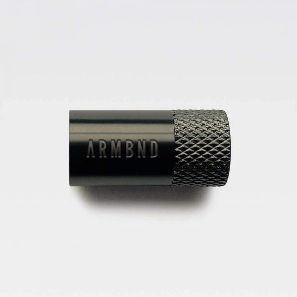 De zwarte sluiting van ARMBND