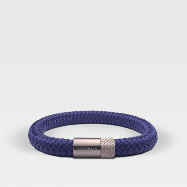 Gevlochten Egyptisch blauwe armband van ARMBND met zilveren roestvrij stalen sluiting