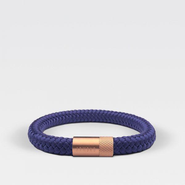 Gevlochten Egyptisch blauwe armband van ARMBND met rosé gouden roestvrij stalen sluiting